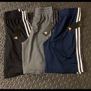 3 BRAND NEW  Adidas Boy Basketball Short